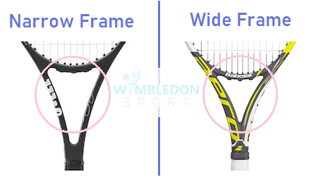 Narrow-frame-vs-Wide-frame-Tennis-racket-how to buy a tennis racket