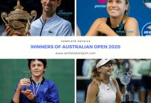 Photo of Australian Open Winners 2020