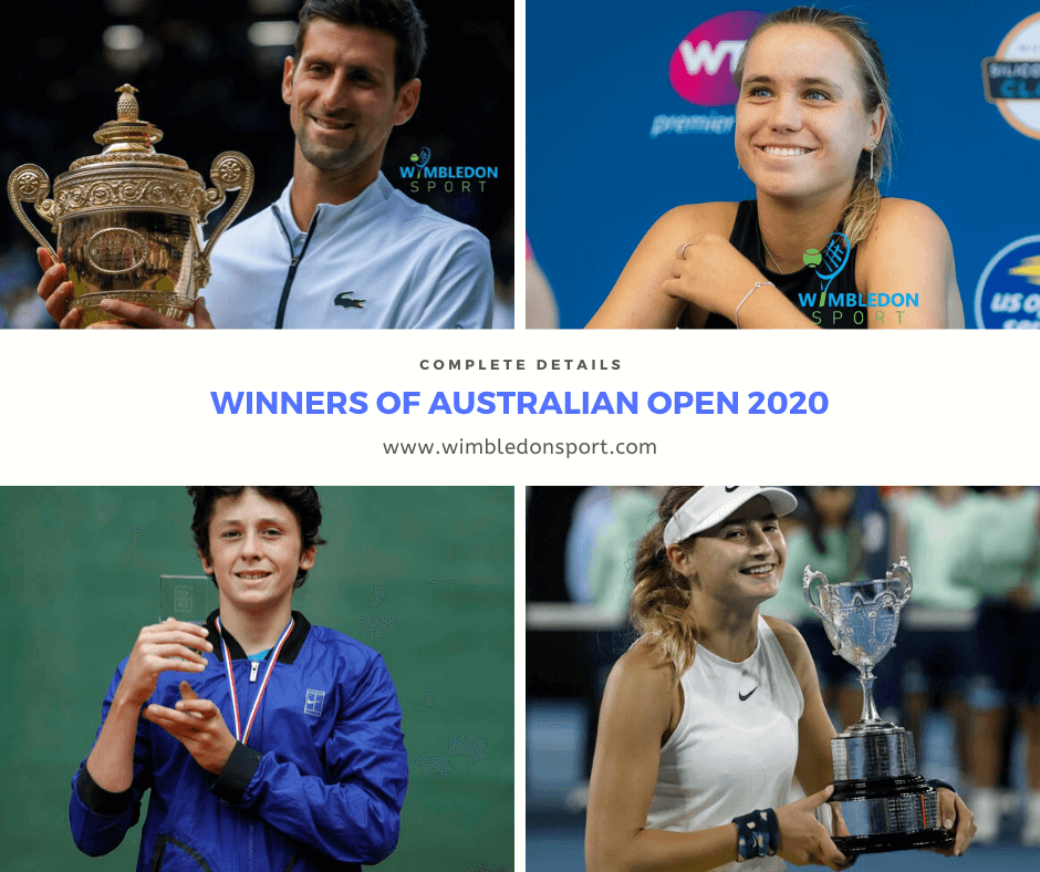 Photo of Winners of Australian Open 2020
