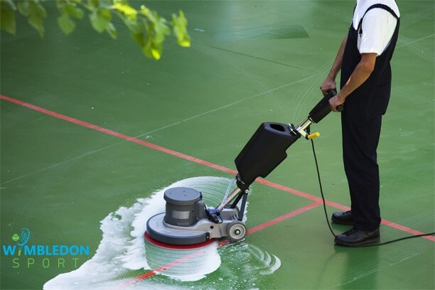 Maintainence & Cleaning Hard Tennis Court