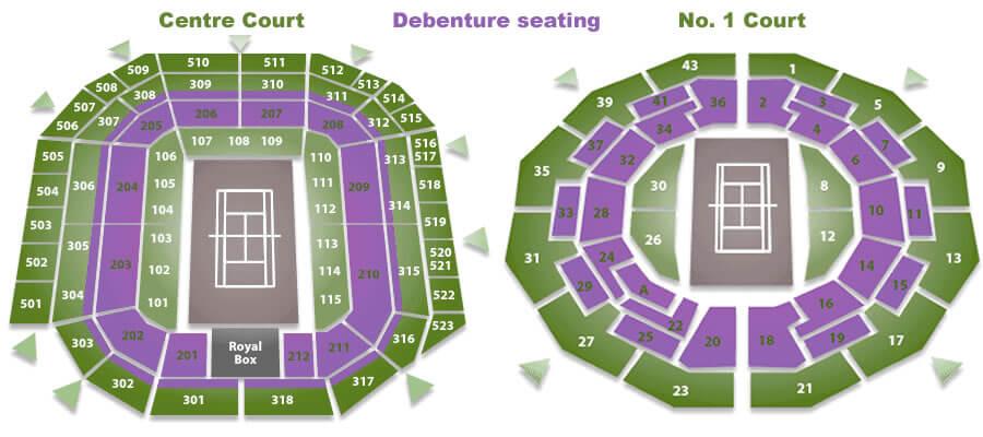 Location of Wimbledon Debenture Seats-tickets-image-buy get cheap Wimbledon tickets
